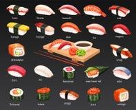 Vector sushi set. royalty free illustration