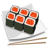 Vector sushi Royalty Free Stock Photo