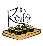 Vector Sushi Rolls Royalty Free Stock Photography