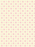 Vector Swatch Eyelet Fabric Background Over Pink. Vector swatch eyelet fabric wallpaper with easy to change pink colored background that matches Valentine Royalty Free Stock Image