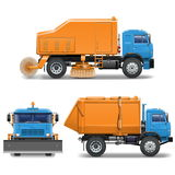 Vector Sweeping Machine Stock Photography