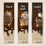 Vector sweet background. Hand drawn illustration Royalty Free Stock Images