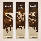 Vector sweet background. Hand drawn illustration Stock Photos