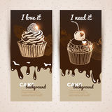 Vector sweet background. Hand drawn illustration Stock Image