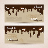 Vector sweet background. Hand drawn illustration Royalty Free Stock Image
