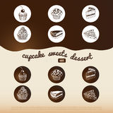 Vector sweet background Royalty Free Stock Photography