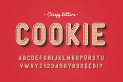 Vector sweet cookie font design, alphabet, typeface, letters and Stock Image