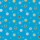 Vector sweet donuts seamless pattern. Pastry Royalty Free Stock Photo