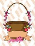 Vector of sweet flower basket Stock Photos