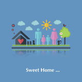 Vector Sweet home Stock Image
