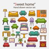 Vector  sweet home set Royalty Free Stock Photo