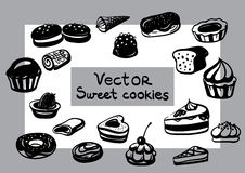 Vector Sweet pastry Stock Images