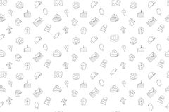 Vector Sweet pattern. Vector Sweet pattern . Sweet seamless background Royalty Free Stock Images
