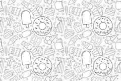 Vector Sweet pattern. Sweet seamless background stock illustration
