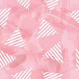 Vector Sweetie Triangle Seamless Pattern. In Watercolor Background Stock Photo