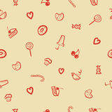 Vector sweets icons seamless pattern Stock Photo
