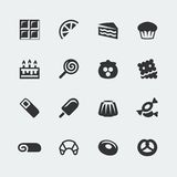Vector sweets icons set. Vector sweets mini icons set royalty free stock photography