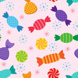 Vector sweets pattern Royalty Free Stock Images