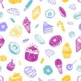 Vector sweets, Pattern. vector illustration