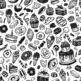 Vector Sweets. Pattern. Royalty Free Stock Images