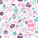Vector Sweets. Pattern. Stock Image