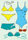 Swimsuits for woman Stock Image