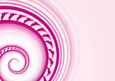 Vector_swirl. This image is a abstract swirl vector with floral elements.Place your text the right side Stock Image