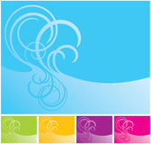 Vector swirl background. Vector illustration of swirl background in differet colours Royalty Free Stock Photos