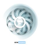 Vector swirl blue and white card. Stock Photo