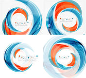 Vector swirl line abstract background. Modern layout for your message, slogan or brand name Royalty Free Stock Images