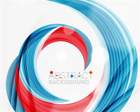 Vector swirl line abstract background. Modern layout for your message, slogan or brand name Stock Photography