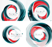 Vector swirl line abstract background. Modern layout for your message, slogan or brand name Stock Image
