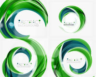 Vector swirl line abstract background Stock Images