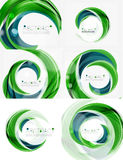 Vector swirl line abstract background. Modern layout for your message, slogan or brand name Stock Photo