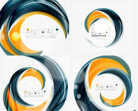 Vector swirl line abstract background. Modern layout for your message, slogan or brand name Royalty Free Stock Photography