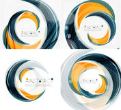 Vector swirl line abstract background. Modern layout for your message, slogan or brand name Stock Photos