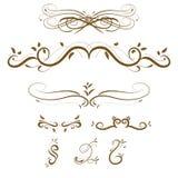 Vector swirl ornament. Vector decorative design elements & page decor Stock Image