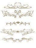 Vector swirl ornament. Vector decorative design elements & page decor Royalty Free Stock Image