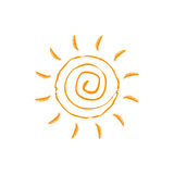 Vector swirl sun icon. Isolated on white background. Royalty Free Stock Photos