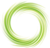 Vector swirling backdrop green color. Vector swirling backdrop. Beautiful spiral liquid surface light green color with glowing white center in middle of funnel Stock Photography