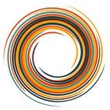 Vector swirling backdrop. Spiral liquid varicoloured surface. Stock Photos