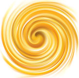Vector swirling backdrop vivid yellow color Royalty Free Stock Image