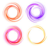 Vector swirling backdrops set Royalty Free Stock Photo