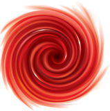 Vector swirling red backdrop. Juice of red fruits stock illustration