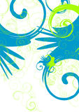 Vector swirls. Green and blue  swirls Stock Images