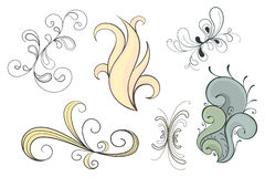 Vector Swirls Set Stock Photography