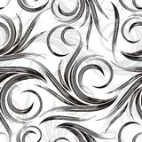 Vector swirly background. In black and white combination Stock Images
