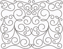 Vector swirly symmetric design Royalty Free Stock Photo