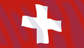 Vector Swiss Flag. Waving flag of Switzerland in vector format Royalty Free Stock Photos