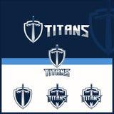 Vector sword for titans theme logo template vector illustration